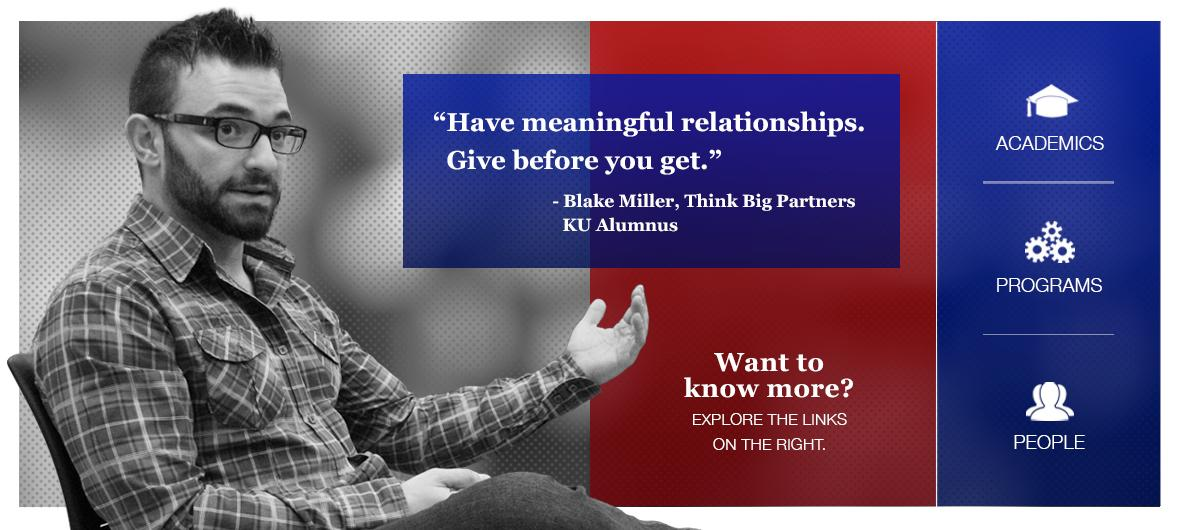 Blake Miller, Think Big Partners - KU Alumnus