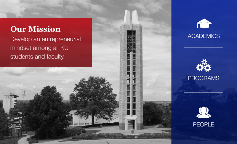 Our Mission: Develop an entrepreneurial mindset among all KU students and faculty.